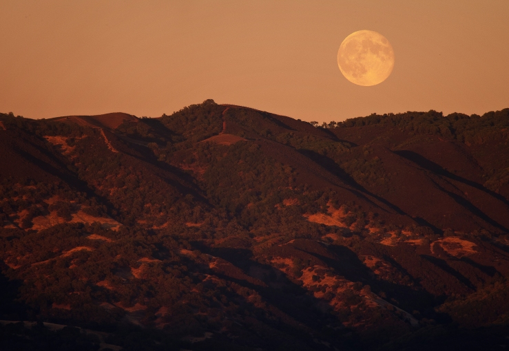 Moonrise Over The Valley